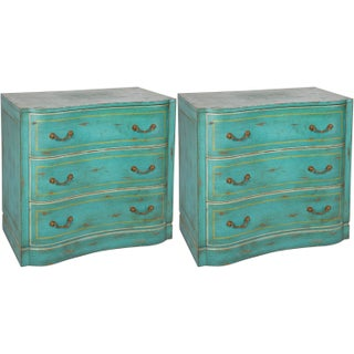 Mid-Century Painted Commodes - A Pair