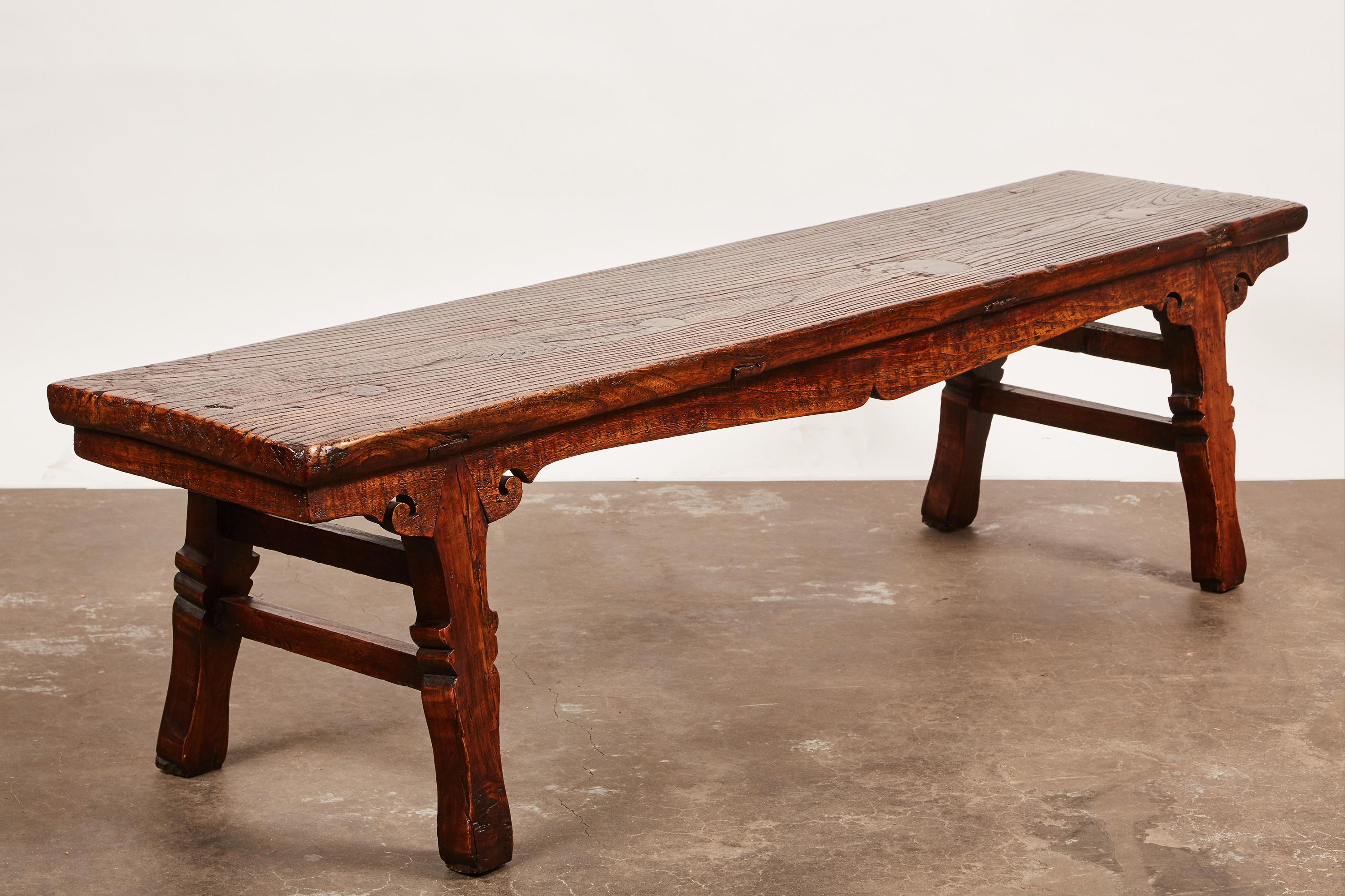 18th Century Chinese Low Sword Leg Bench/Table   Image 7 Of 8
