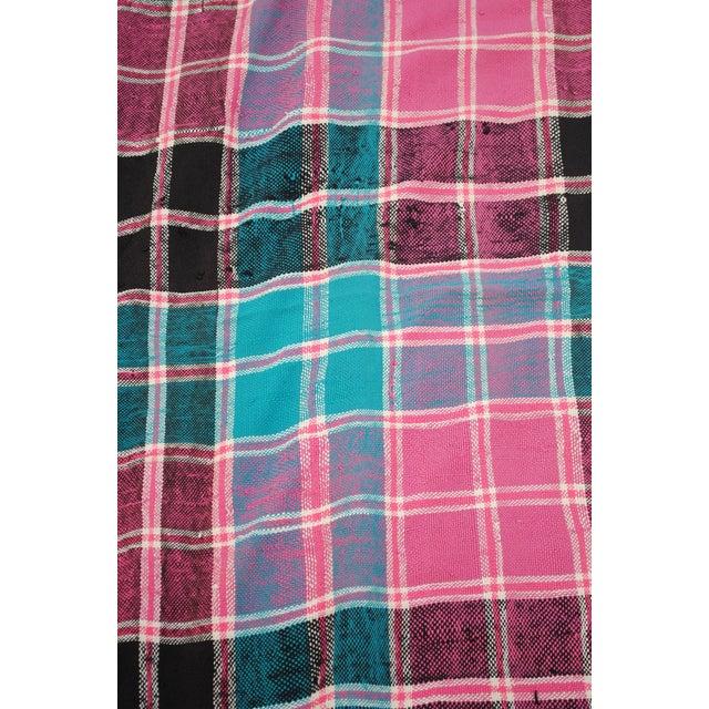 Vintage Moroccan Cotton Blanket - Image 2 of 6