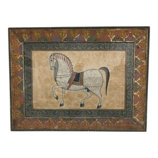 Vintage Moroccan Horse Painting