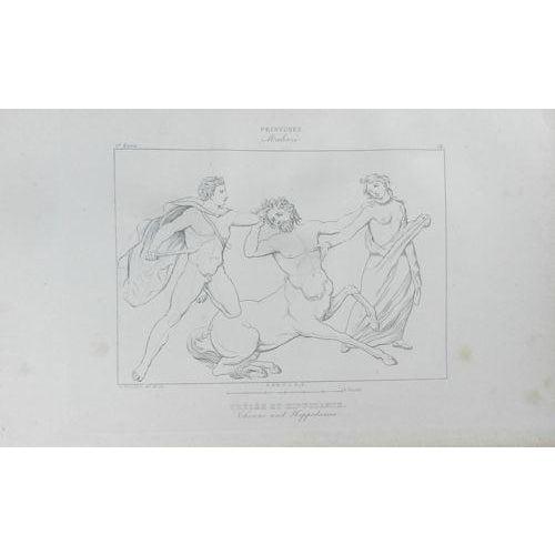 1840 Antique French Mythological Print - Image 1 of 2