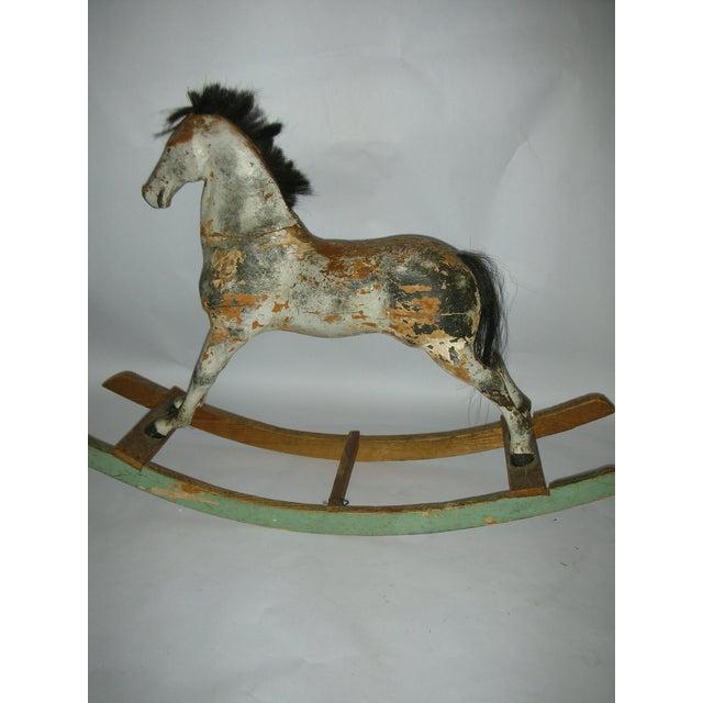 Antique Swedish Carved Wood Child Rocking Horse Chairish