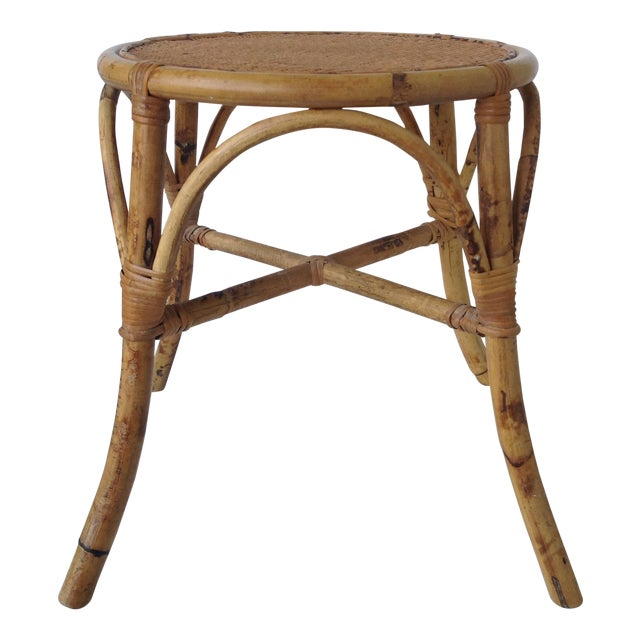 English Bamboo Round Occasional Table - Image 1 of 11