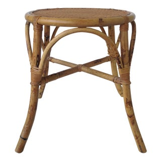 English Bamboo Round Occasional Table
