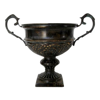 Antique Bronze Bas Relief Chalice