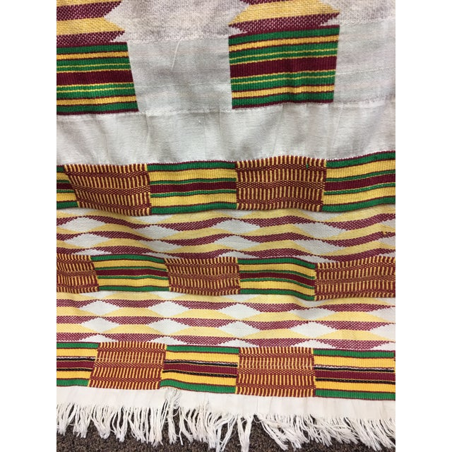 "African Tribal Vintage Textile Throw - 41"" x 79"" - Image 6 of 11"