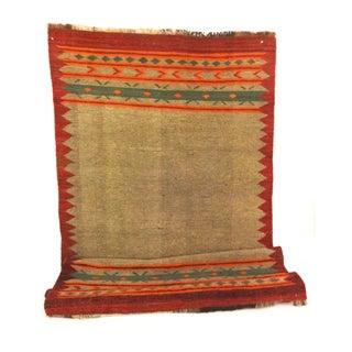 "Hand-Woven Wool Kilim Runner - 3'2"" x 9'"