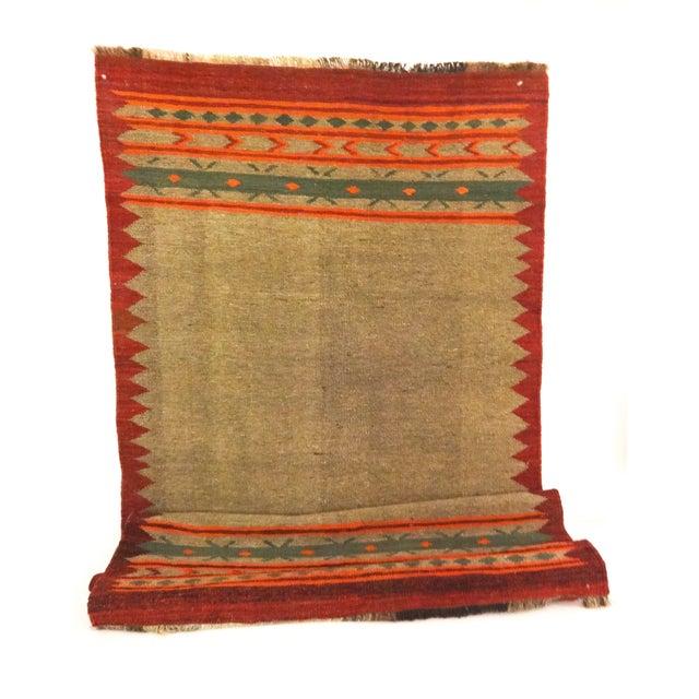 "Image of Hand-Woven Wool Kilim Runner - 3'2"" x 9'"