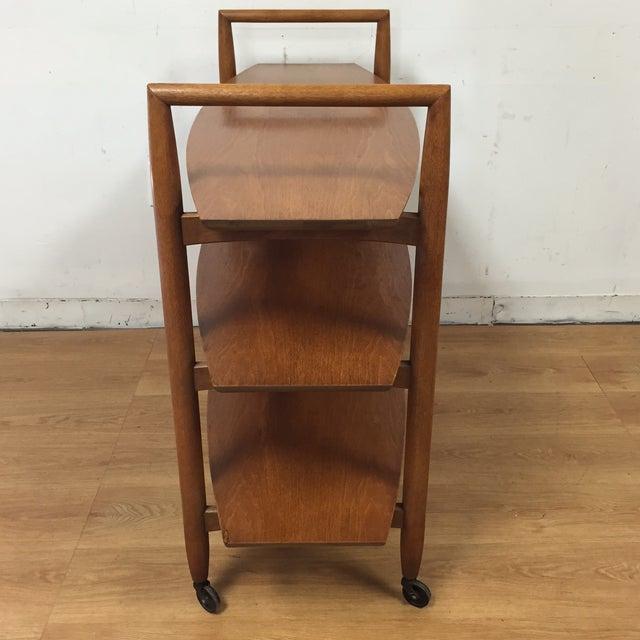 Image of Finn Juhl Style Rolling Bar Cart