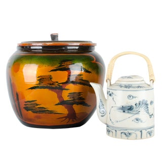 Japanese Lacquer Padded Teapot Caddy