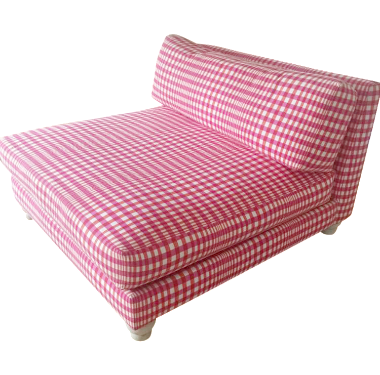 CB2 Gingham Slipper Chair Chairish