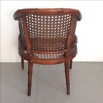 Image of Vintage Faux Bamboo Wicker Chairs - A Pair