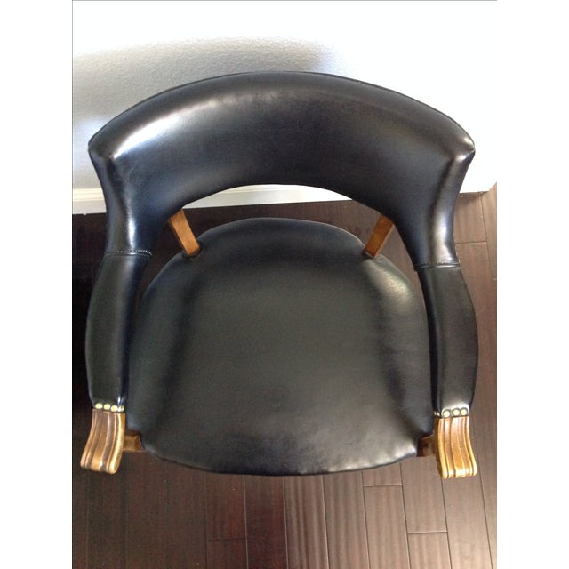 Mid-Century Style Black Armchairs - A Pair - Image 7 of 11