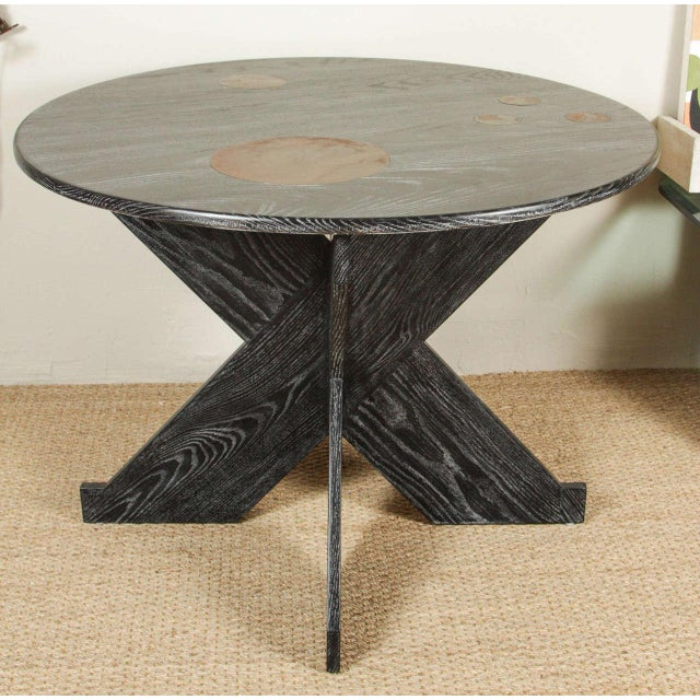 Martin & Brockett Circle Entry Table With X Base - Image 2 of 7