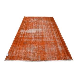 "Traditional Turkish Orange Rug - 5'3"" x 8'1"""