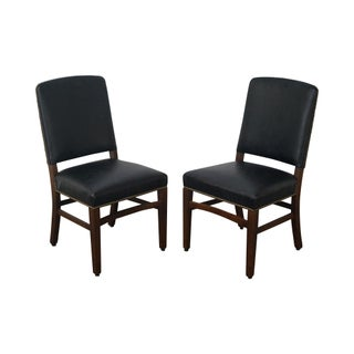 Gunlocke Traditional Black Office Side Chairs - A Pair