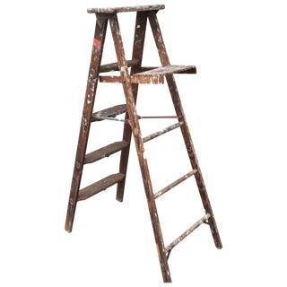 1950's Vintage Paint Splattered Painters Ladder