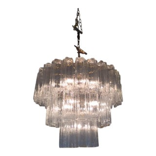 Monumental Tronchi Glass Chandelier