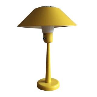 Yellow Metal Mid-Century Desk Lamp