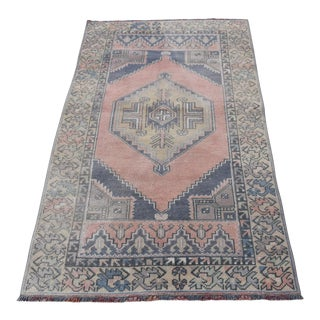 Vintage Turkish Anatolian Rug - 3′1″ × 5′1″