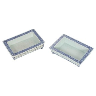 Two Chinese Export Narcissus Trays
