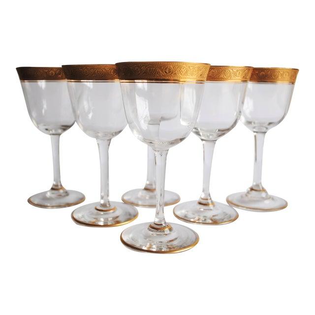 Gold Encrusted Cocktail Glasses - Set of 6 - Image 1 of 4