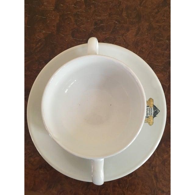 Mount Kenya Safari Club Soup Bowls With Saucers - A Pair - Image 4 of 5