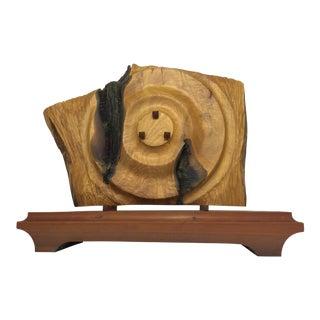Unique Carved Wood Slab Sculpture