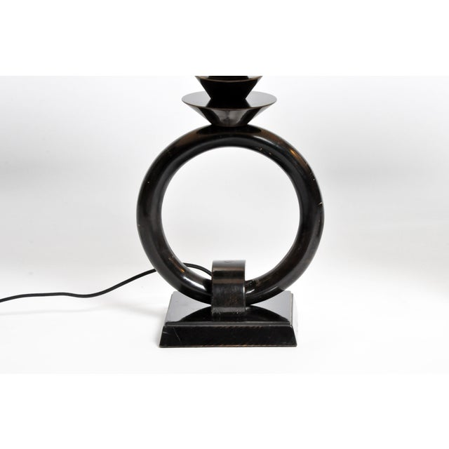 Pair of Mid-Century Lamps with Black Lacquer - Image 8 of 8