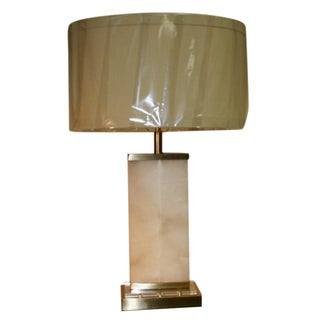 Contemporary Alabaster & Brass Lamp