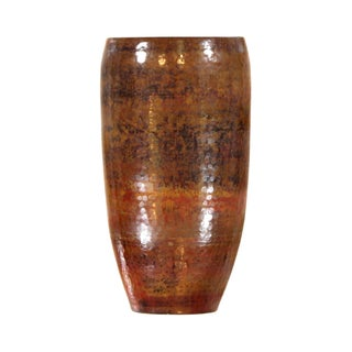 "Pasargad's Hand-Forged Copper Vase 15"" - Set of 3"