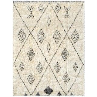 "Moroccan Lamb's Wool Rug- 5'11"" X 8'10"""