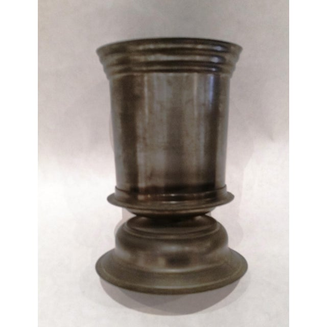 English Vintage Pewter Vase - Image 4 of 5