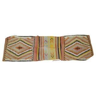 Vintage Turkish Tribal Kilim Bag Face