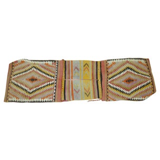 Vintage Turkish Tribal Kilim Bag Face