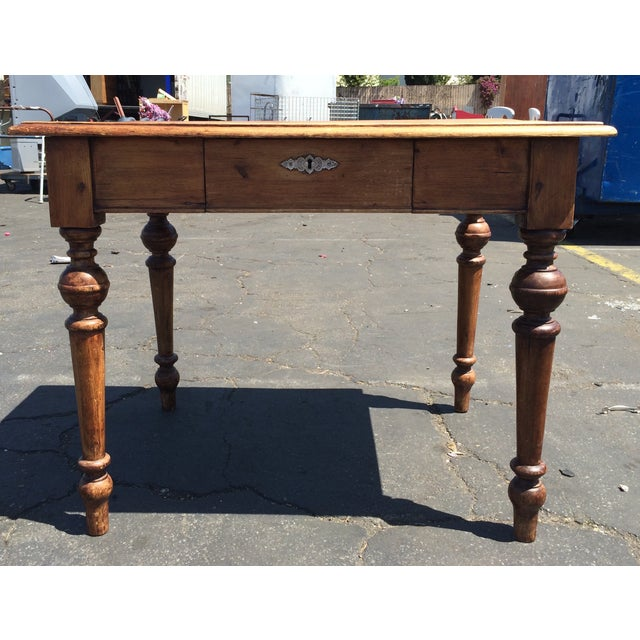 Rustic Wood Desk - Image 2 of 5