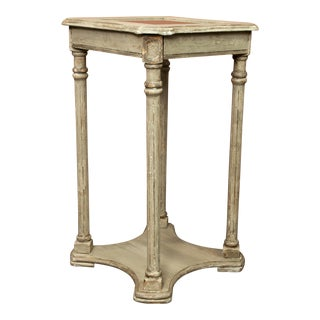 French Painted Tiered Side Table or Plant Stand