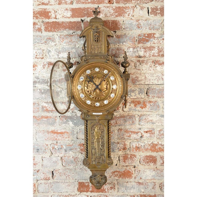 Image of 19th Century Creusy Paris Bronze French Clock