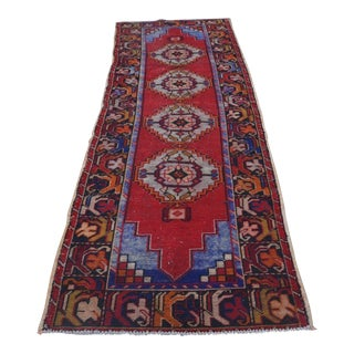 Traditional Turkish Oushak Rug - 3' x 9'2""