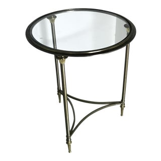 Chrome & Brass Neoclassical Side Table