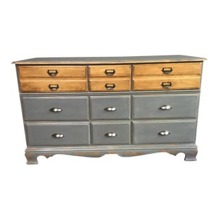 Vintage Two Tone Distressed Dresser