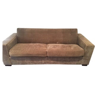 Mitchell Gold Sofa in Olive Velvet