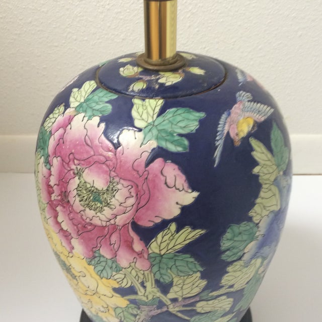 Chinoiserie Blue Floral Ginger Jar Lamp - Image 4 of 8