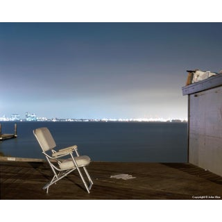 Padded Chair - Night Photograph by John Vias