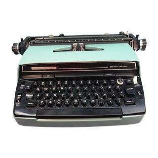 """1963 SCM 12"""" Blue Electric Typewriter"""