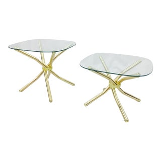 Gold Knot Side Tables - A Pair