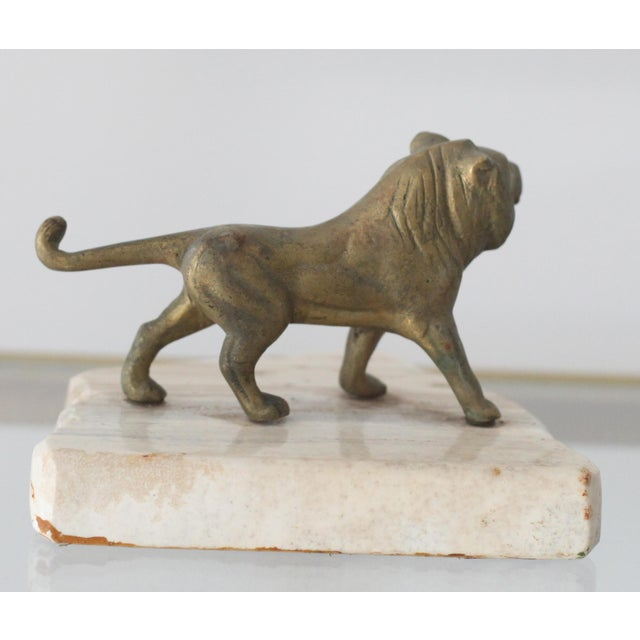 Vintage Mid-Century Brass Lion Paperweight - Image 4 of 5