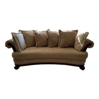 Custom Velour Bernhardt Ferrara Sofa