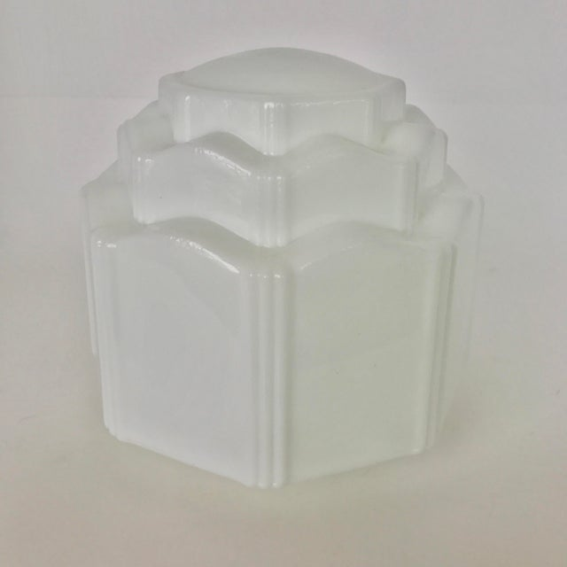 Art Deco Milk Glass Globe Replacement - Image 3 of 6