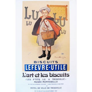 1987 Original French Biscuits LU Lefèvre-Utile Exhibition Poster